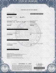 美宝出生纸,中国领事馆,三级认证